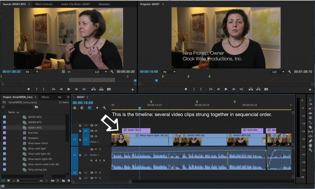 Post Production: Timeline Sample